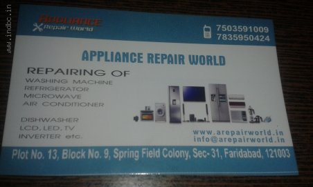 Appliance Repair Center 7503591009