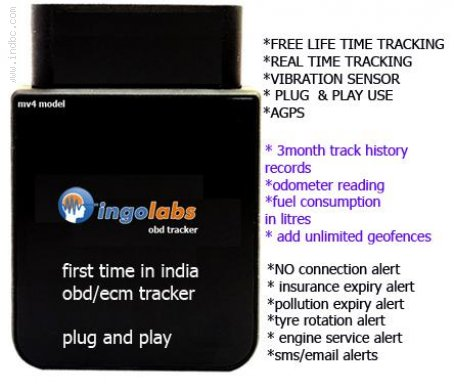 GPS obd/ecm tracker for rs 3899 plug and play
