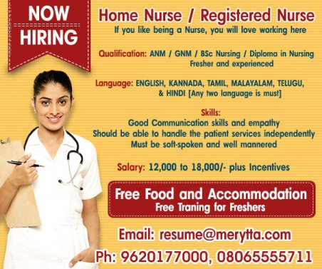 Hiring Nurses / Home Nurses
