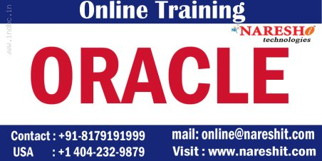 Oracle Online Training In India-Online Oracle Training NareshIT