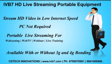 IVB7 Webcasting Hardware Equipment