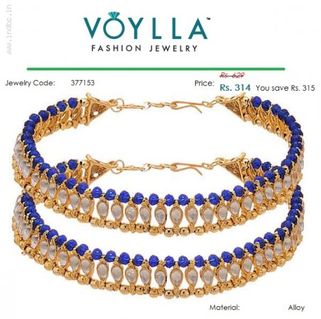 Add a Touch of Sparkle to your Outfit with Kundan Anklets available at Voylla