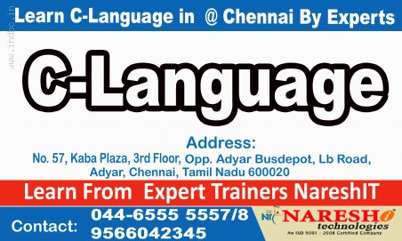 C Language Training in Chennai-C Language Training in Adyar