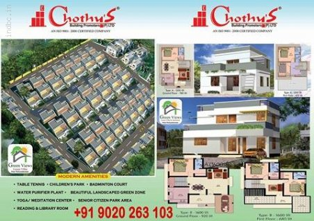 Green Views Budget Villas Near Vattiyoorkave Puliyarakonam 9020263103