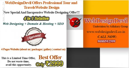 WebDesignDevil Offers Professional Tour and Travels Website Design